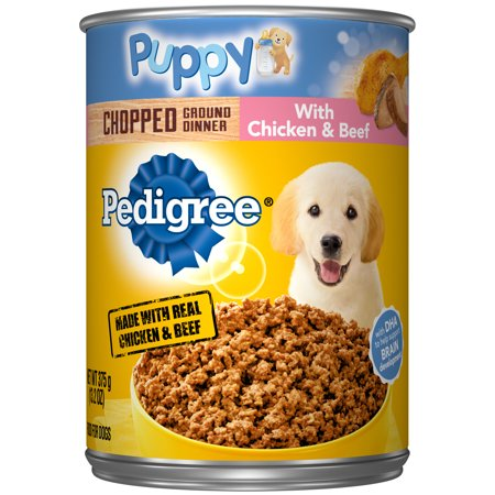 Multi Web (Pedigree Puppy Chopped Ground Dinner With Chicken & Beef Adult Canned Wet Dog Food, 13.2 oz. Can)
