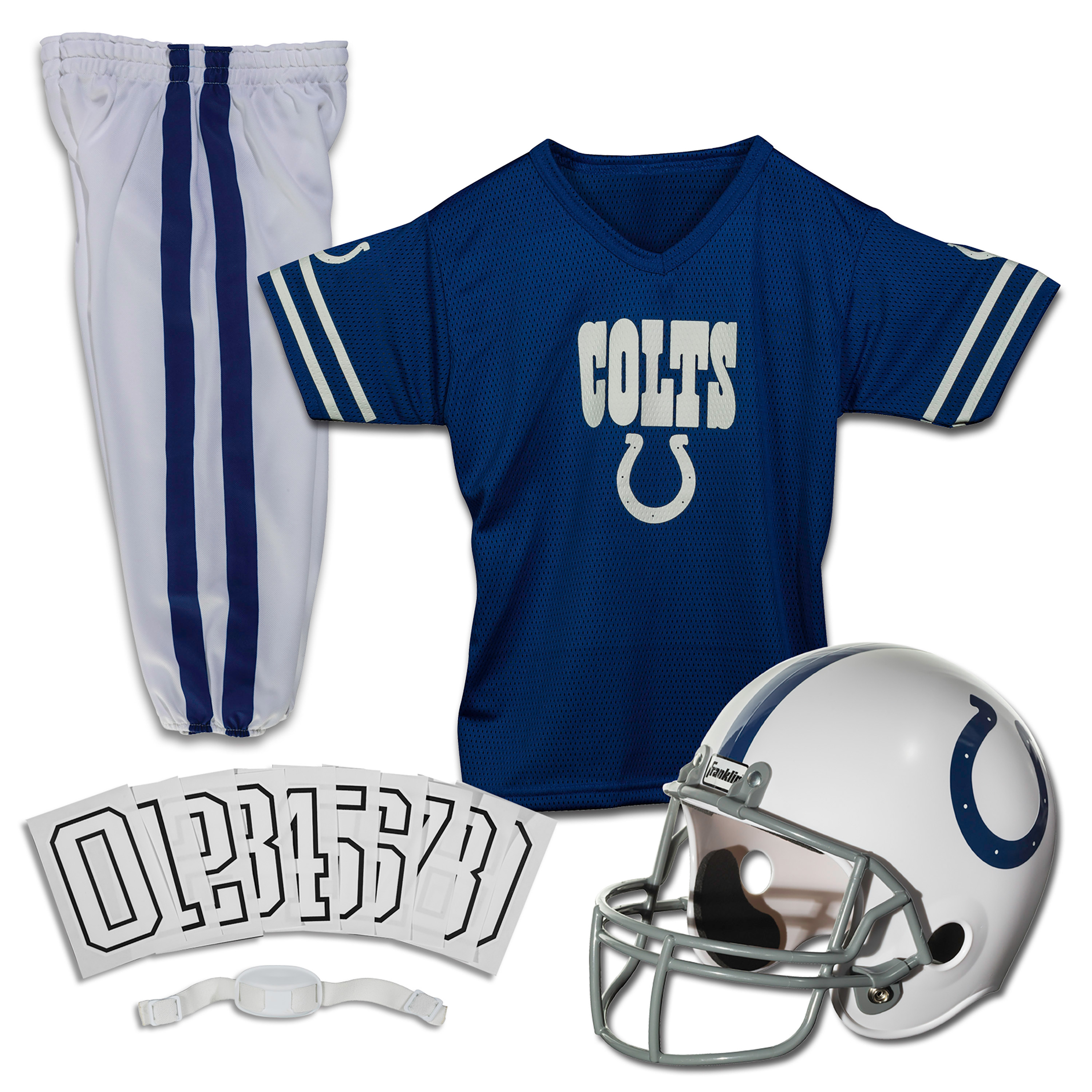 Franklin Sports NFL Indianapolis Colts Youth Licensed Deluxe Uniform Set, Small