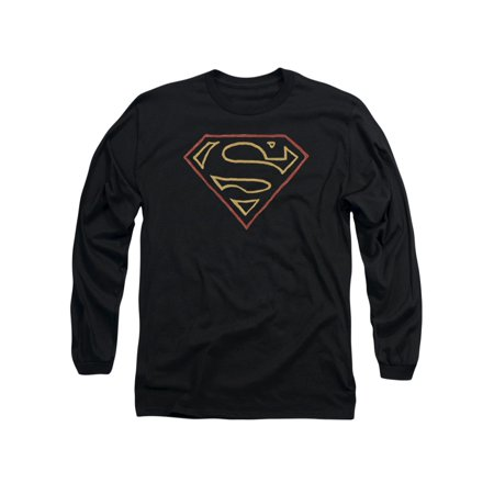Superman DC Comics Colored Shield Adult Long Sleeve T-Shirt Tee