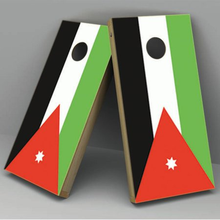 Jordan Flag Cornhole Board Vinyl Decal - Jordan Wrap