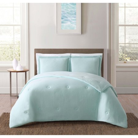 Truly Soft Everyday Solid Jersey Aqua Twin XL Comforter Set