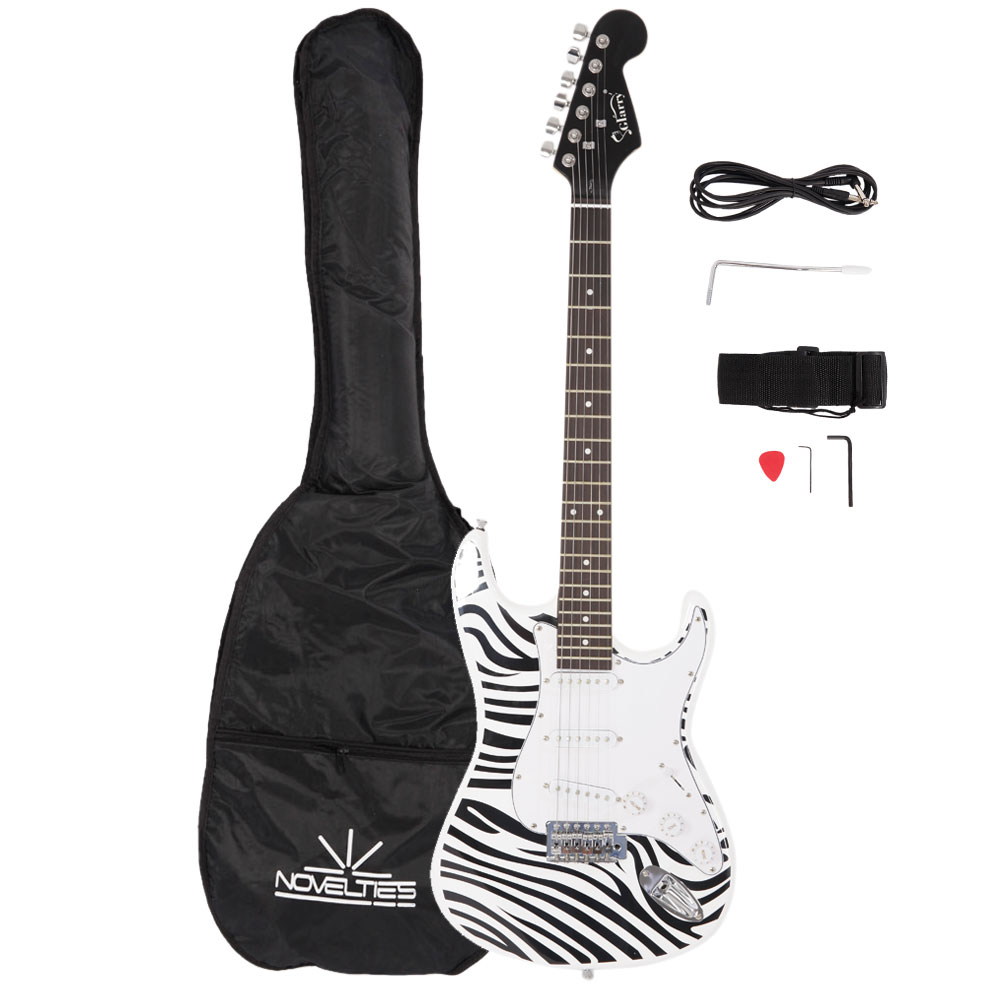 Zimtown Basswood 22 Frets Electric Guitar + Gigbag + Strap + Pick 4 Color