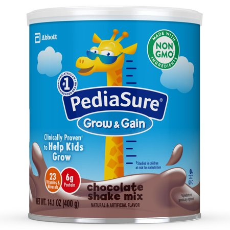 PediaSure Grow & Gain Non-GMO Shake Mix Powder, Nutritional Shake For Kids, With Protein, DHA, Antioxidants, and Vitamins & Minerals, Chocolate, 14.1