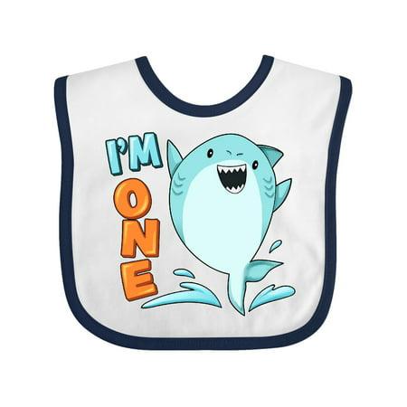 I'm One- shark first birthday Baby Bib for $<!---->