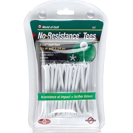 World of Golf No-Resistance Tees - 40 Pack