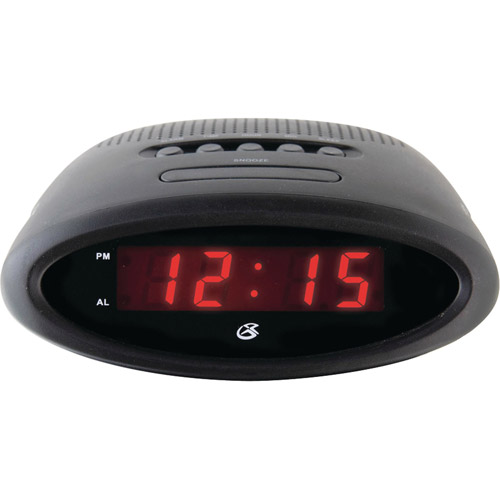 "Gpx C200B .6"" LED AM/FM Clock Radio"