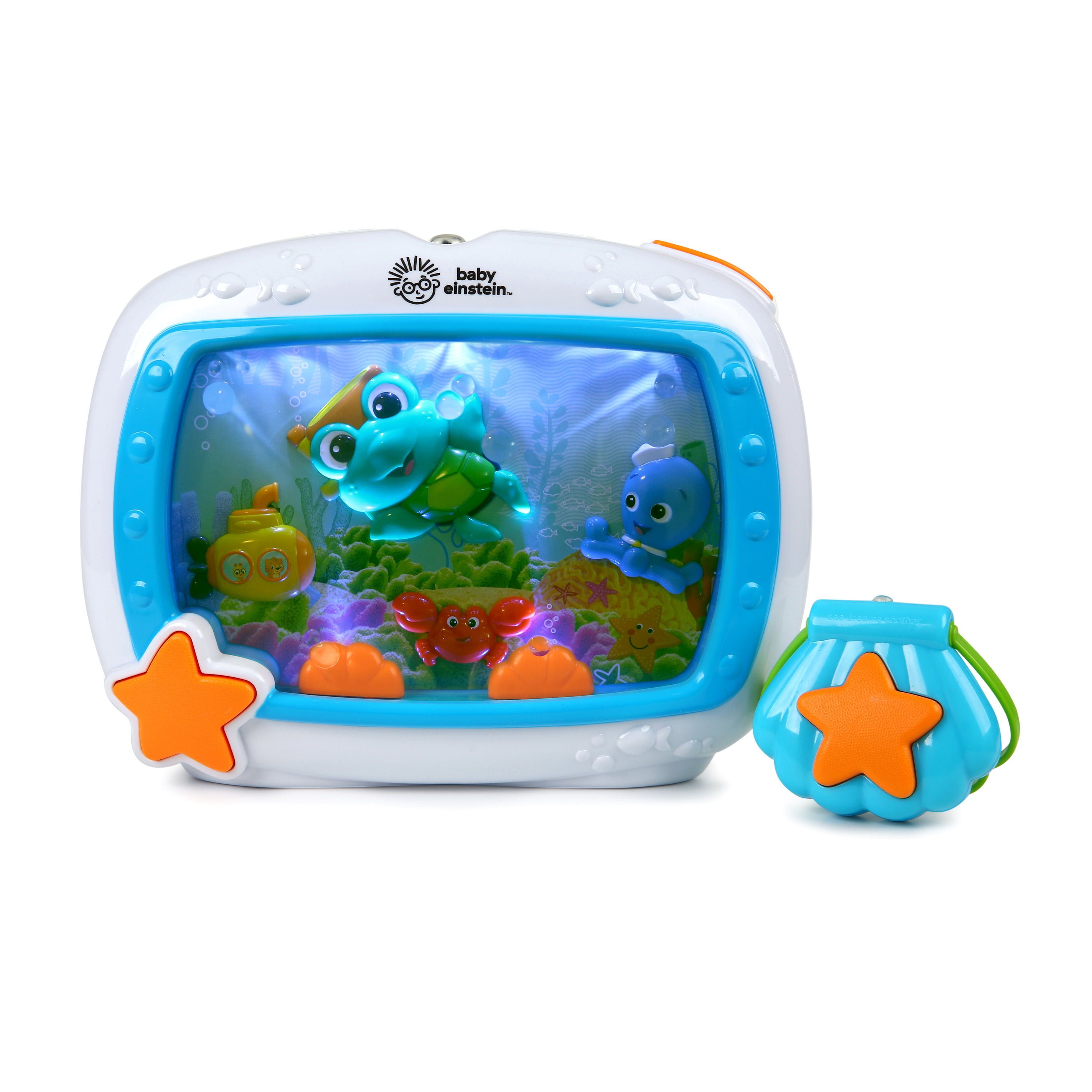 Baby Einstein Sea Dreams Soother Musical Crib Toy And Sound Machine With Remote Lights And Melodies Newborns Walmart Com Walmart Com Use sea shells, stones, sand, pipe cleaners and make fish to create your own. baby einstein