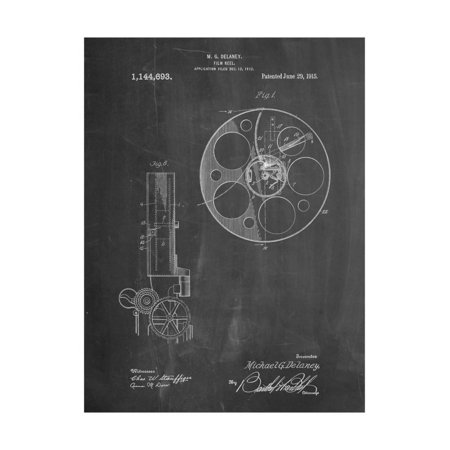 Film Reel 1915 Patent Print Wall Art By Cole Borders ()