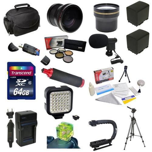 Opteka Advanced Package for Canon Vixia HF G10 HF G20 HF ...