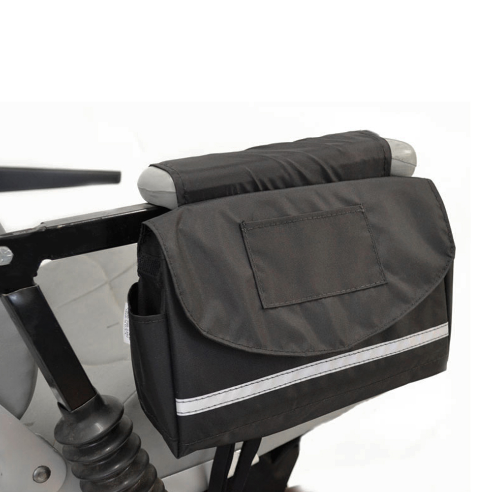 """Deluxe Mobility Saddlebag for Powerchairs, Scooters, and Wheelchairs 10"""" x 8"""" x 3"""""""