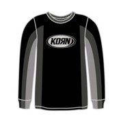 Korn Men's  Oval Logo  Long Sleeve Black