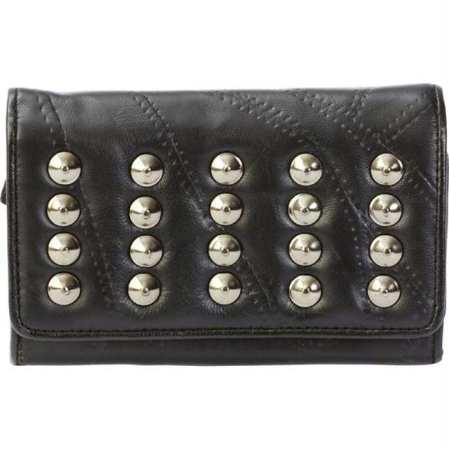 Italian Stone Design Genuine Lambskin Leather Wallet