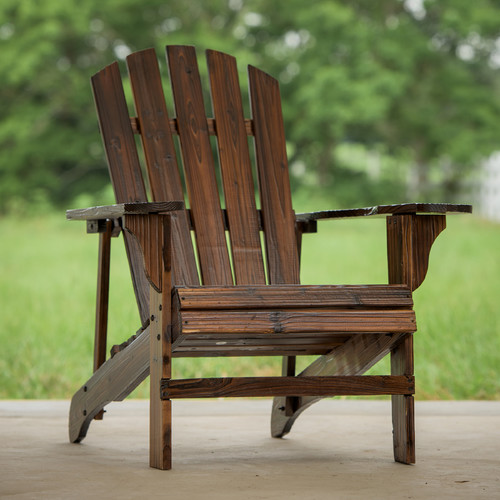 Leigh Country TX 94056 Charred Adirondack Chair by Generic