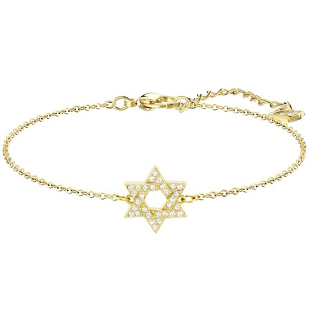 Swarovski Star Of David Bracelet : White : Gold Plating : 5410963 David Yurman Gold Bracelet