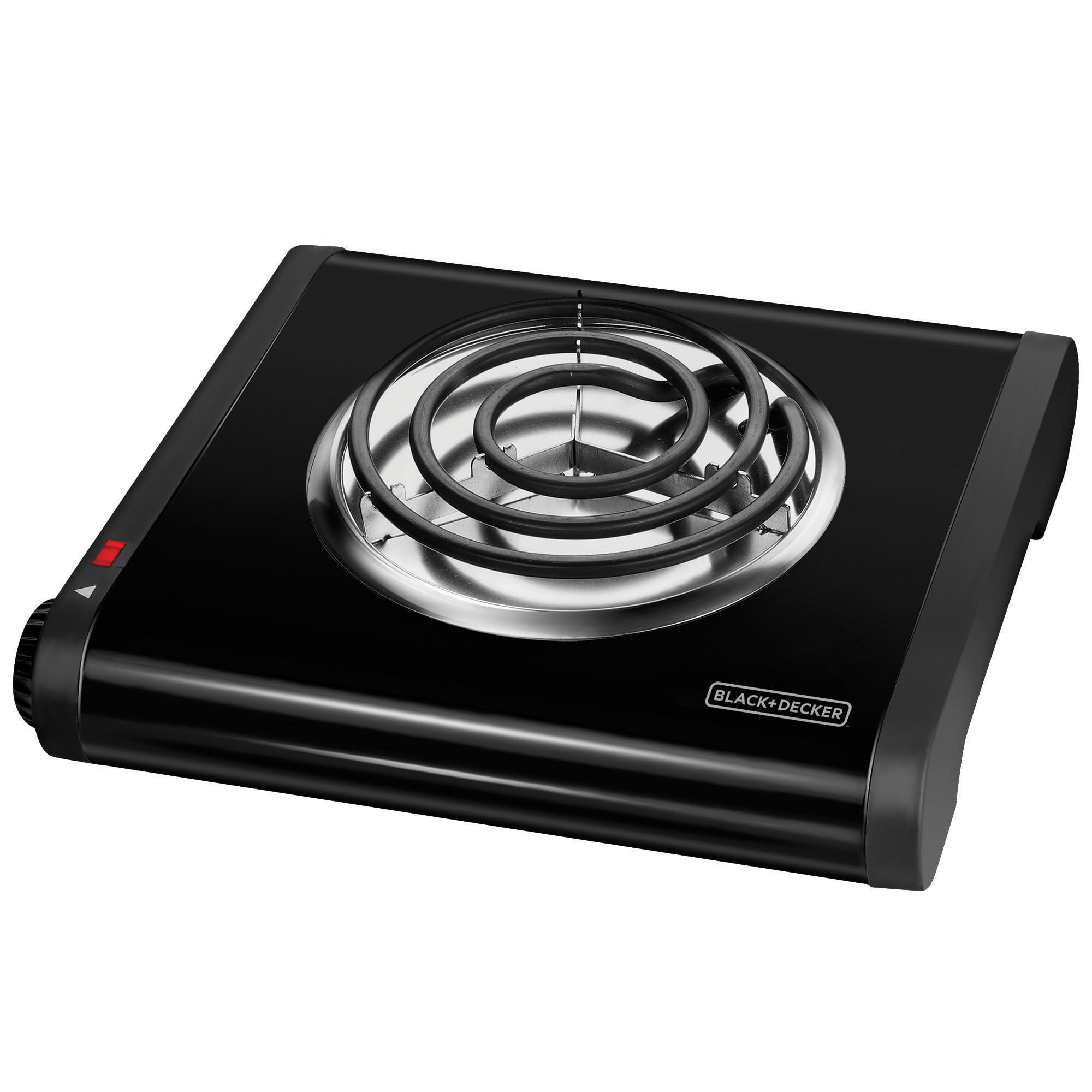 BLACK+DECKER Single Burner Portable Buffet Range, Black, SB1001B