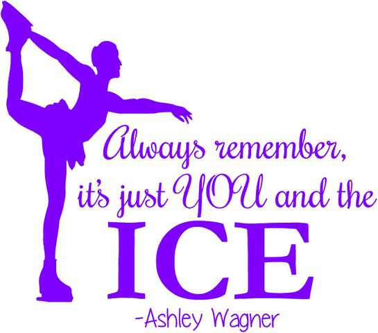 """Vinyl Wall Decal: Ashley Wagner Figure Skating Wall Decal 