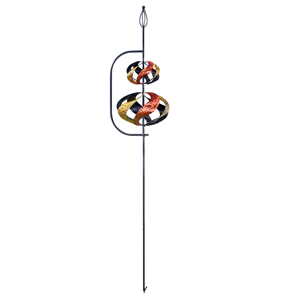 Dual Spiral Wind Spinner Garden Stake by Collections Etc