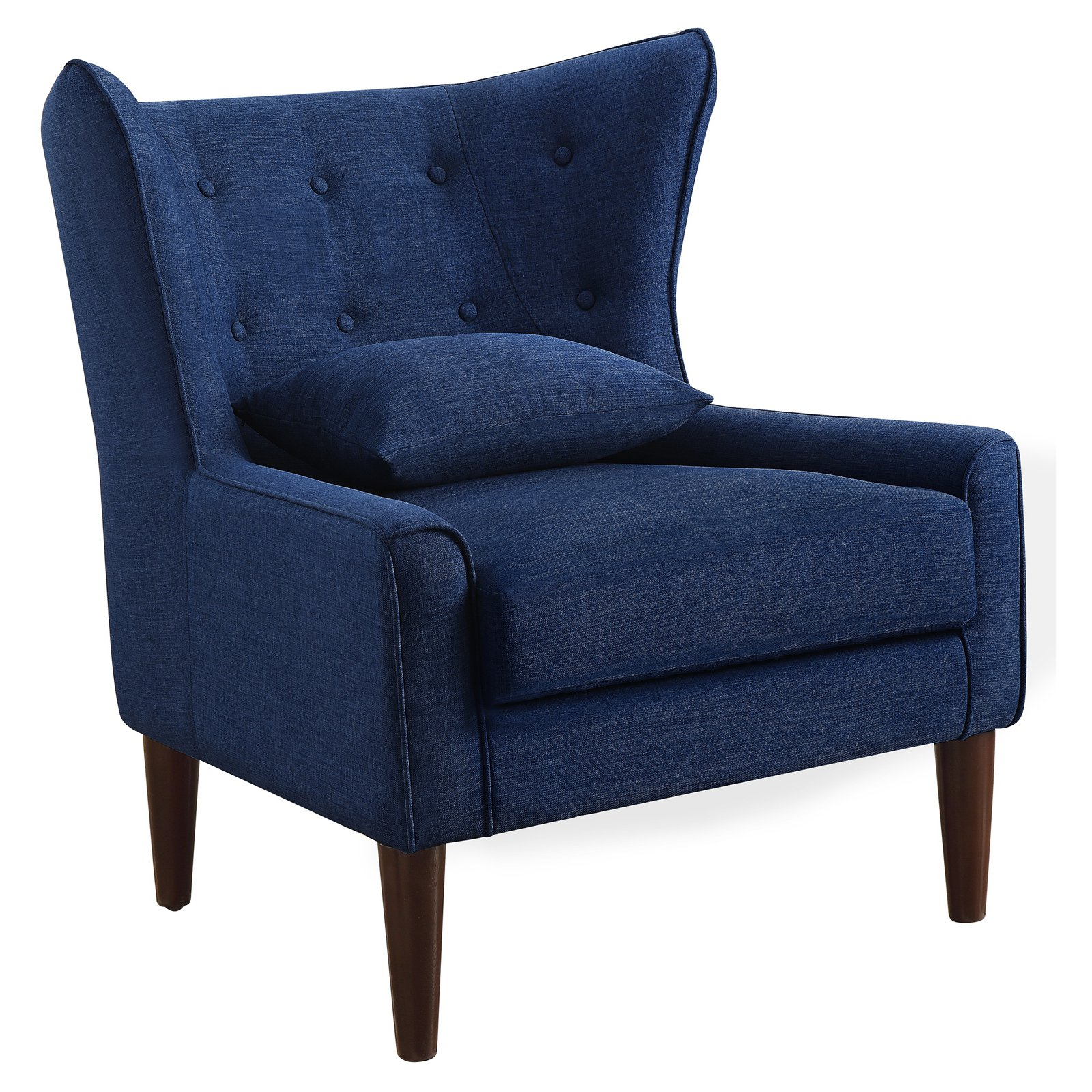 Rosevera Liviana Tufted Wingback Chair With Back Cushion