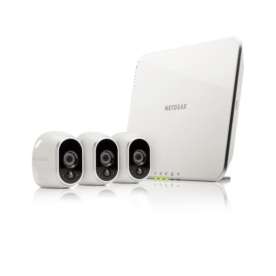 b4a3e47fee Arlo 720P HD Security Camera System VMS3330 - 3 Wire-Free Battery Cameras  with Indoor Outdoor