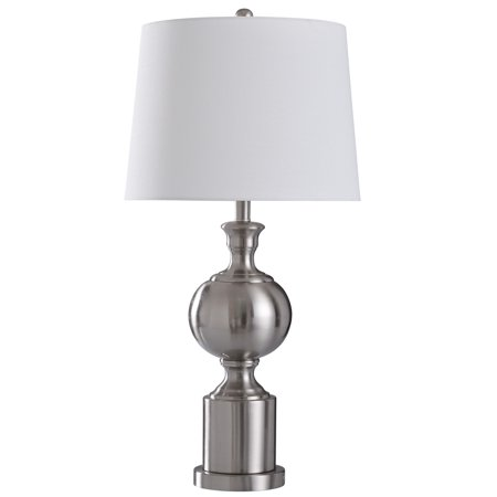 Transitional Still Life - Brushed Steel - 30in Transitional Promo Brushed Steel Metal Table Lamp