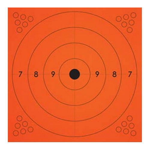 Champion Traps and Targets Adhesive Target, Orange, 10-Pack 13x13""
