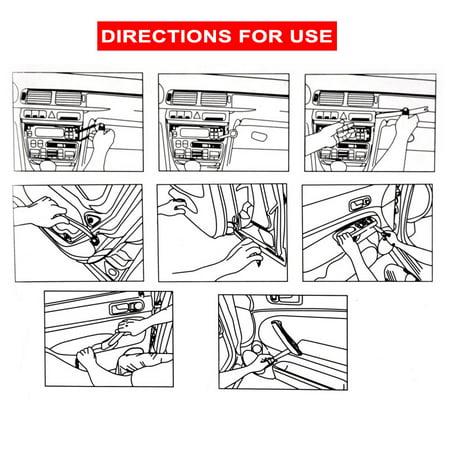 4 Pry Car Door Panel Clip Removal Tool Kit Trim Radio