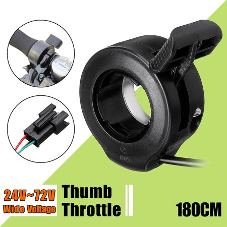 Wide Voltage Thumb Throttle Speed Control Assembly Compatible 130X 24V 36V 48V 60V (Thumb Throttle)