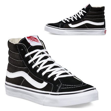 0c993c058a7b Vans Old Skool Sk8-Hi Slim Black White Canvas Classics Skate Shoe Unisex  Sneakers Hi top Men 4