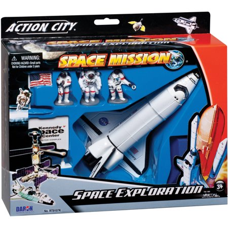 Daron NASA Die-Cast Space Shuttle with Accessories](Rocket Usa Toys)