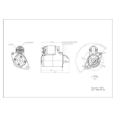 TYC 1-17873 Starter Motor for 2003-2009 Chrysler PT