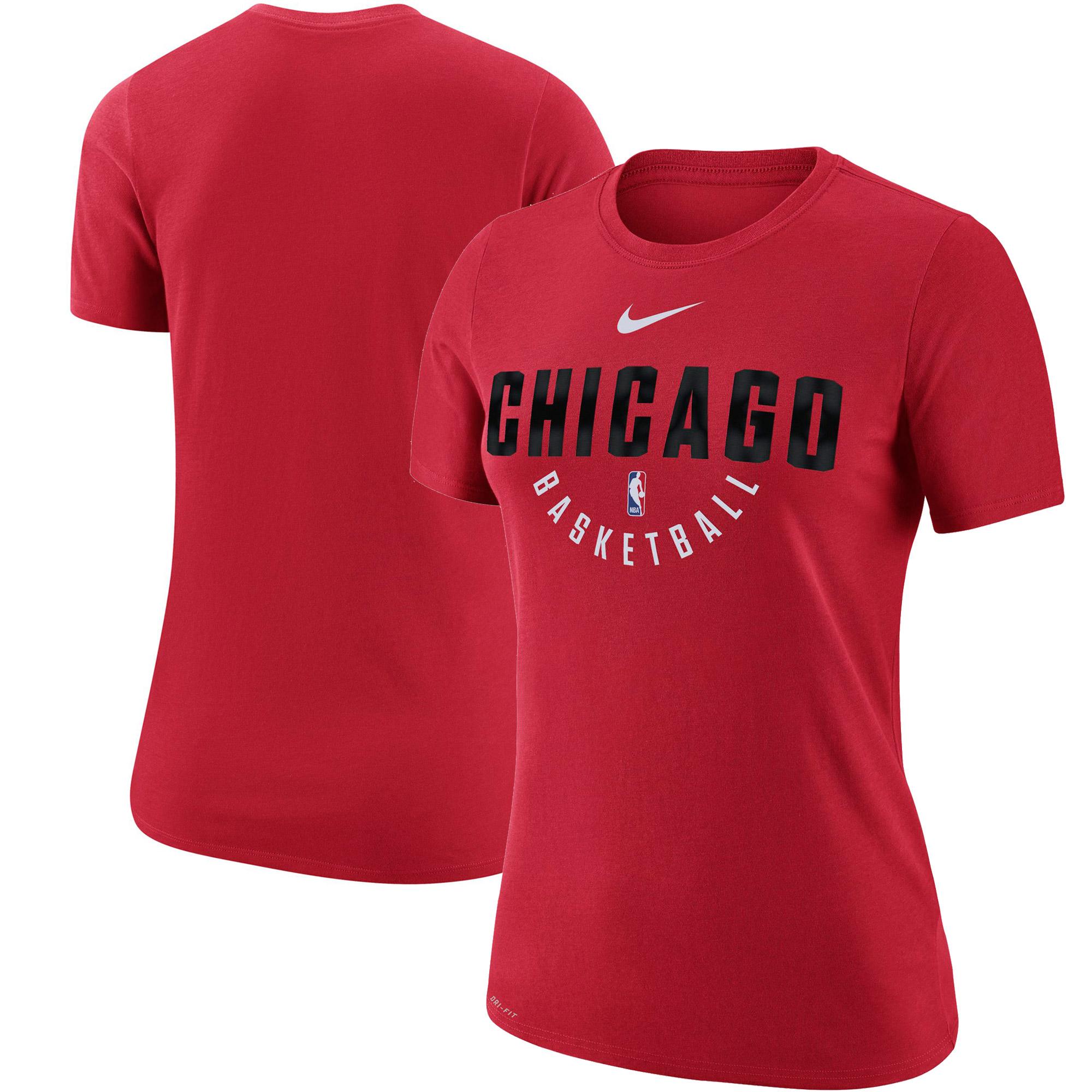 Chicago Bulls Nike Women's Practice Performance T-Shirt - Red