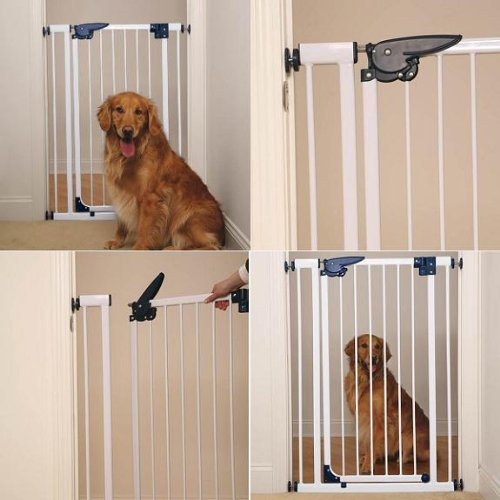 Pet Studio Pressure-Mounted Gates for Dogand Pets - White; Extra-Tall 30-351/...