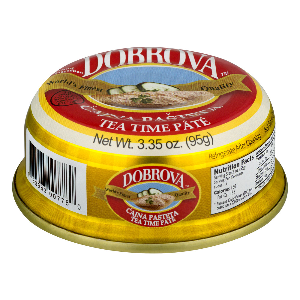 Dobrova Tea Time Pate, 3.35 OZ by Tut's International