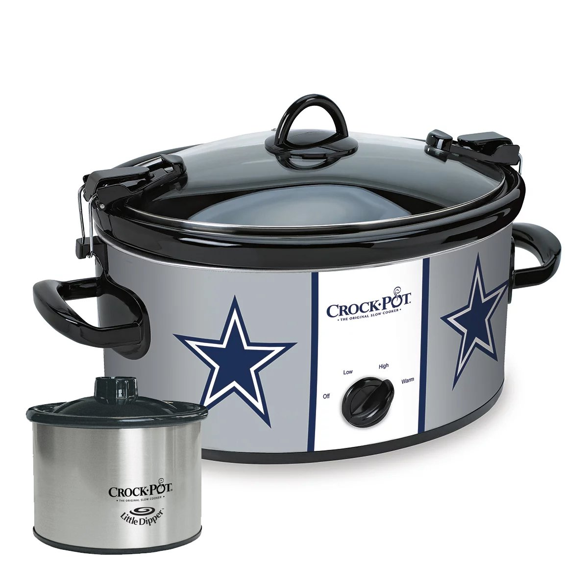 Crock Pot 6 Quart Cook & Carry Slow Cooker w/ 16oz Little Dipper, Dallas Cowboys