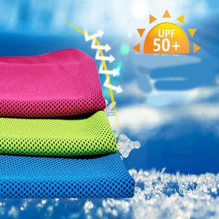 Instant Relief Cooling Towel, Ice Towel, Microfiber Towel, Use as Chilly Neck Headband Bandana Scarf, Cool Cold Towels for Yoga Beach Travel Sports Running