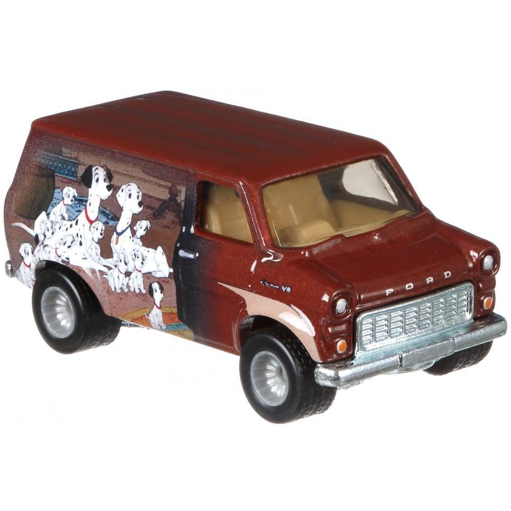 Hot Wheels Premium 1:64 Scale Die-cast Disney's 101 Dalmatians Ford Transit Super Van by Mattel