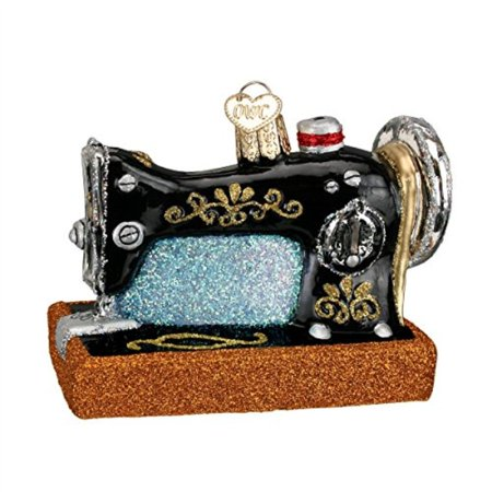 Old World Christmas Ornaments: Sewing Machine Glass Blown Ornaments for Christmas Tree