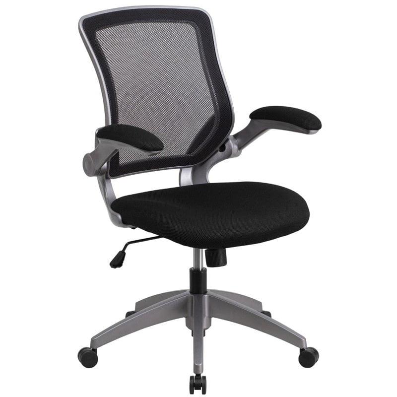 Scranton & Co Mesh Swivel Office Chair in Black