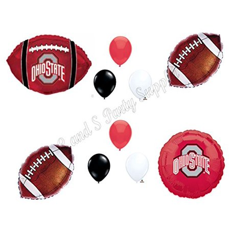 Ohio State Football Game Day Birthday Party Balloons