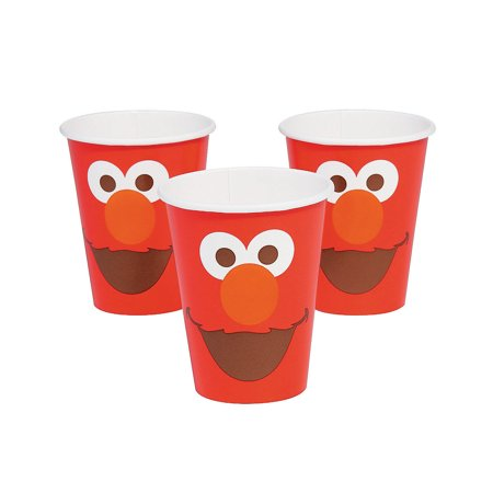 Sesame Street Elmo Turns One Paper Cups 8 Piece(s)/PK 4PK (Sesame Street Plastic Cups)