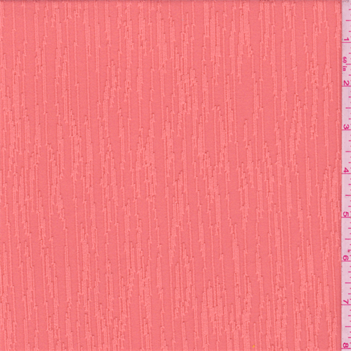 Coral Seismic Stripe Activewear, Fabric By the Yard