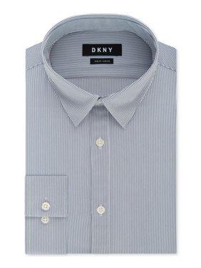 Mens Striped Slim-Fit Stretch Dress Shirt 15 1/2