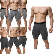 summer Fashion Men Underwear Cotton Mid-Waist Boxer Shorts Male Long Leg Underpants