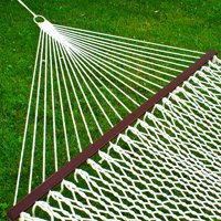 Best Choice Products Cotton Double Hammock w/ Accessories - White