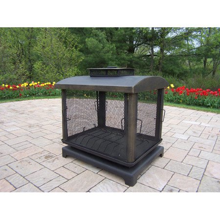 Oakland Living Black Outdoor Fireplace