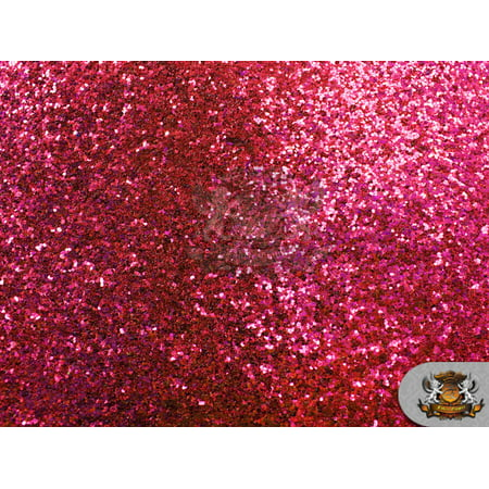 """Vinyl Fabric Glitter Large Stargem Crafting Canvas 54"""" Wide Sold By The Yard (FUCHSIA)"""