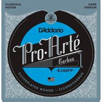 D'Addario EJ46FF Pro-Art Carbon Classical Guitar Strings, Dynacore Basses, Hard Tension
