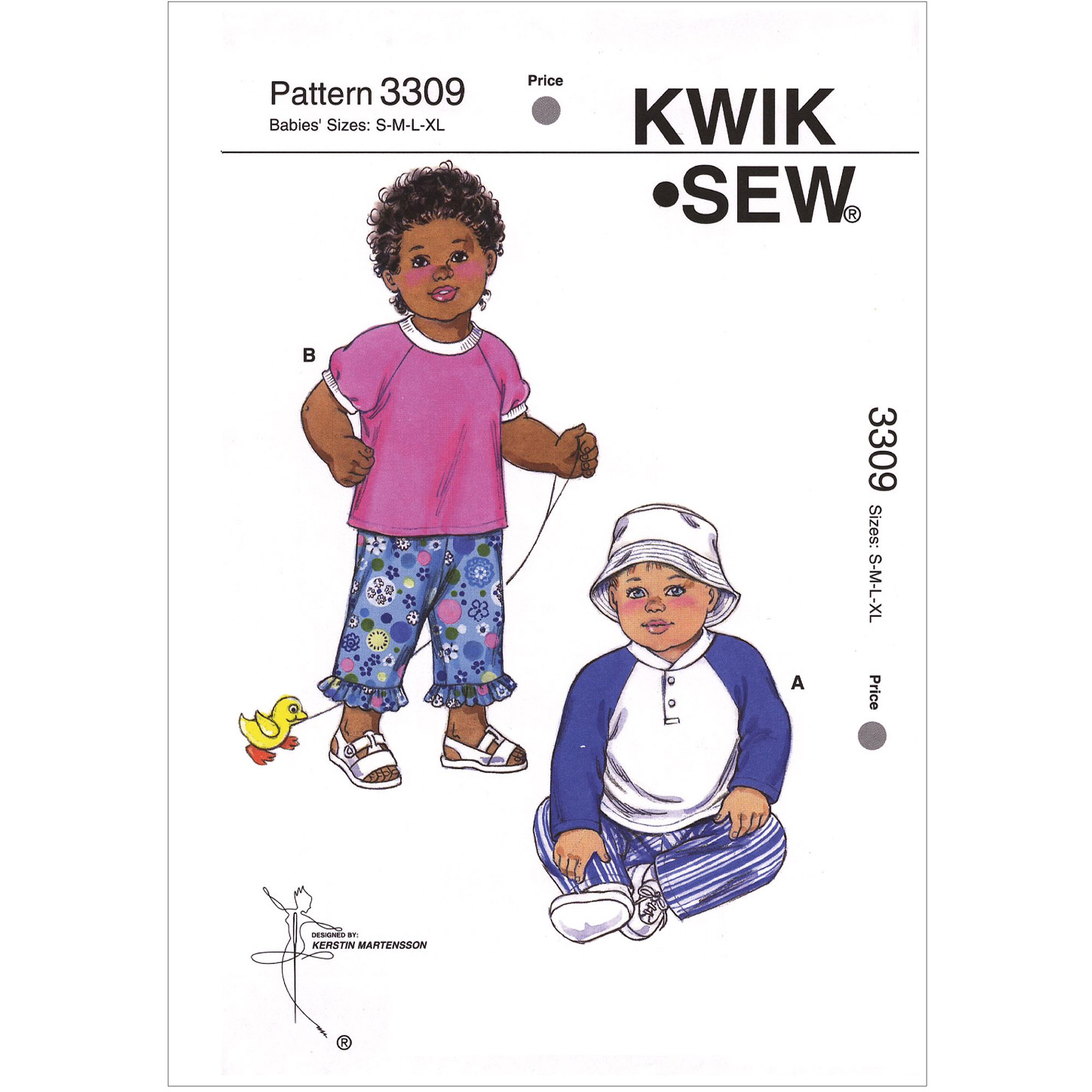 Kwik Sew Pattern Shirts, Pants and Hat, (S, M, L, XL)