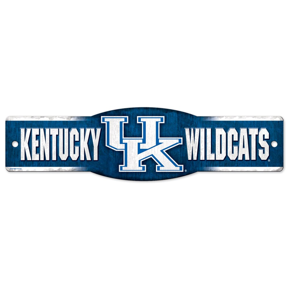 Kentucky Wildcats Official NCAA 4 inch x 17 inch  Plastic Street Sign by Wincraft