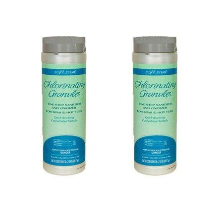 SpaGuard Soft Soak 2 Lb Concentrated Dissolving Granule Chlorinate Hot Tubs (2)